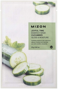 MIZON~Оздоравливающая тканевая маска с экстрактом огурца~Joyful Time Essence Mask Cucumber