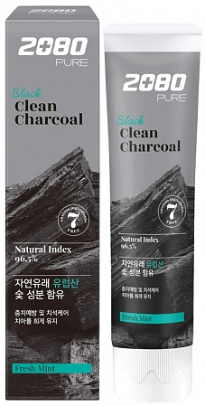 Dental Clinic~Зубная паста уголь и мята~Pure Black Clean Charcoal Fresh Mint 2080