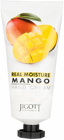 Jigott~Крем для рук с экстрактом манго~Real Moisture Hand Cream Mango