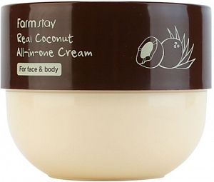 FarmStay~Крем для лица и тела с маслом кокоса~Real Coconut All-in-One Cream